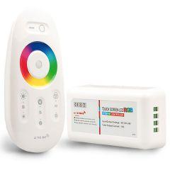 Wireless Touch RGB PWM-Dimmer mit Funk-Fernbedienung 2.4GHz, 12-24V DC 3x4A