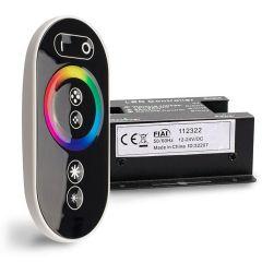 Wireless Touch RGB PWM-Dimmer mit Funk-Fernbedienung Flat, 12-24V DC 3x6A