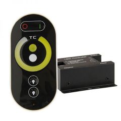 Wireless Touch weißdynamischer PWM-Dimmer mit Funk-Fernbedienung, 12-24V DC 2x6A