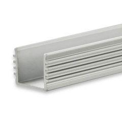 LED Aufbauprofil SURF12 BORDERLESS Aluminium eloxiert, 200cm