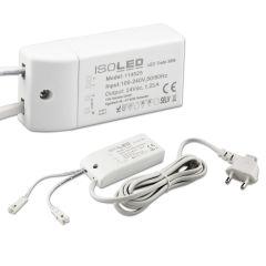 LED Trafo MiniAMP 24V/DC, 0-30W, 200cm Kabel mit Flachstecker, sekundär 2 female Buchsen