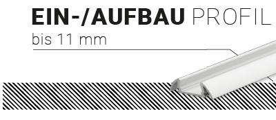 Ein-/Aufbauprofil 11mm